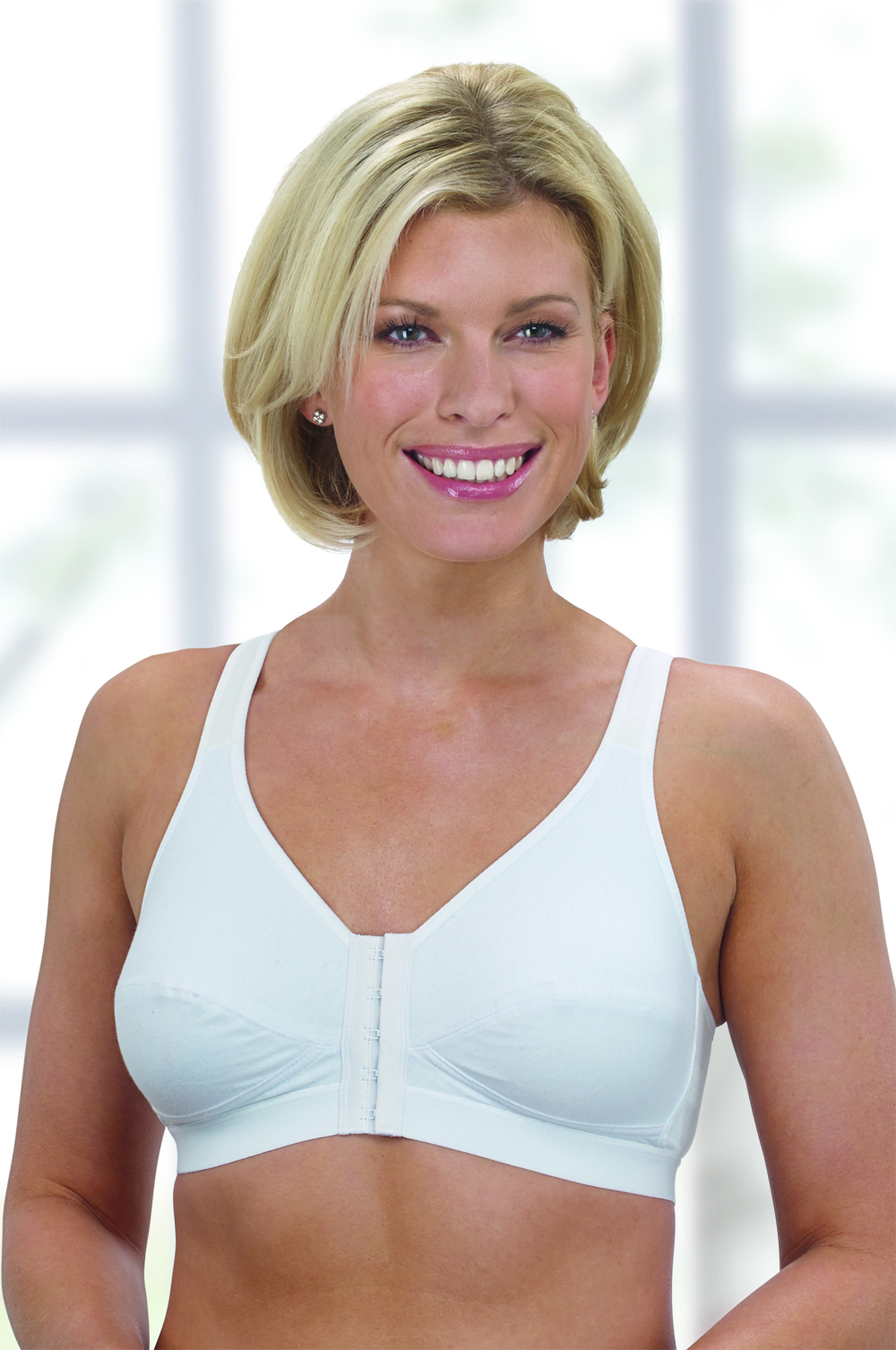 Hilary 95% Cotton Front Fastening Mastectomy Bra (7060) by Nicola Jane