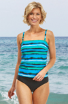 Harbour Island Collection 2 Piece Bandeau Mastectomy Tankini (S708) by Nicola Jane