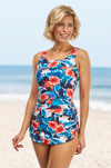 Kahului Front and Back Skirted Mastectomy Swimsuit (S715) by Nicola Jane