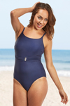 St Martin Thin Strap Mastectomy Swimsuit (S716) by Nicola Jane