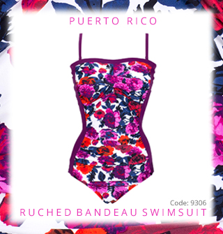 Click to enlarge AddThis Sharing Buttons   Email a friend View all items by Nicola Jane Puerto Rico Ruched Bandeau Swimsuit
