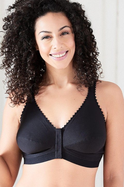98% Cotton Front Fastening Bra  by Royce (1010)