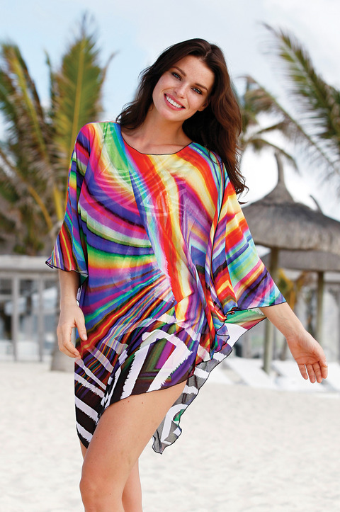 Rainbow Bright Matching Poncho by Sunflair (3109)