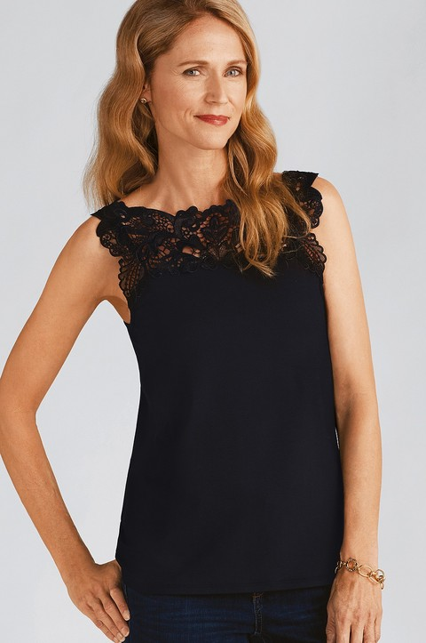 Clemmie Reverible Lace Top (4196) (4196)