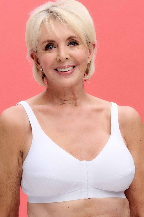 75% Cotton Front Fastening Bra  by Nicola Jane (7060)