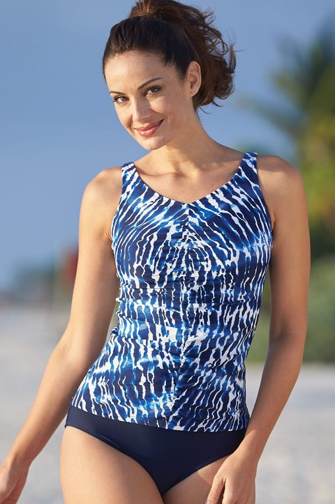 NEW! Zanzibar Ruched V Neck Tankini