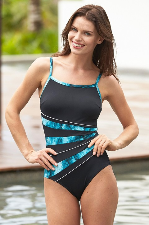 Mirissa Bay Thin Strap Swimsuit  by Nicola Jan (9296)