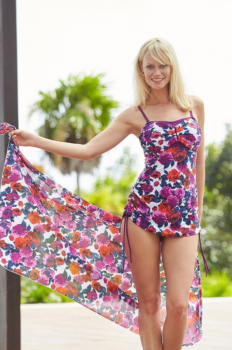 Puerto Rico Skirted Swimsuit  by Nicola Jane (9307)