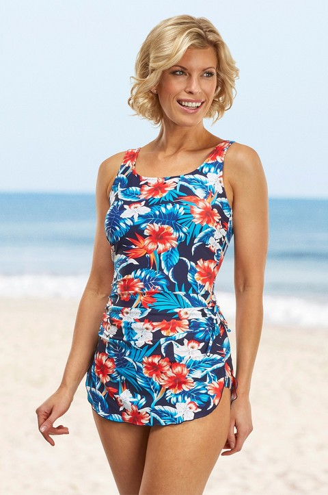 Kahului Skirted Swimsuit  By Nicola Jane (S715)