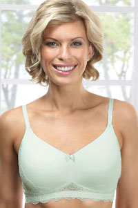 Cara Padded Lace Elegance Mastectomy Bra (7041) in Mint