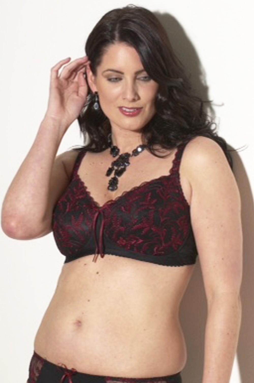 cef208162b693 Pamela Mastectomy   Post-Surgery Bra Black