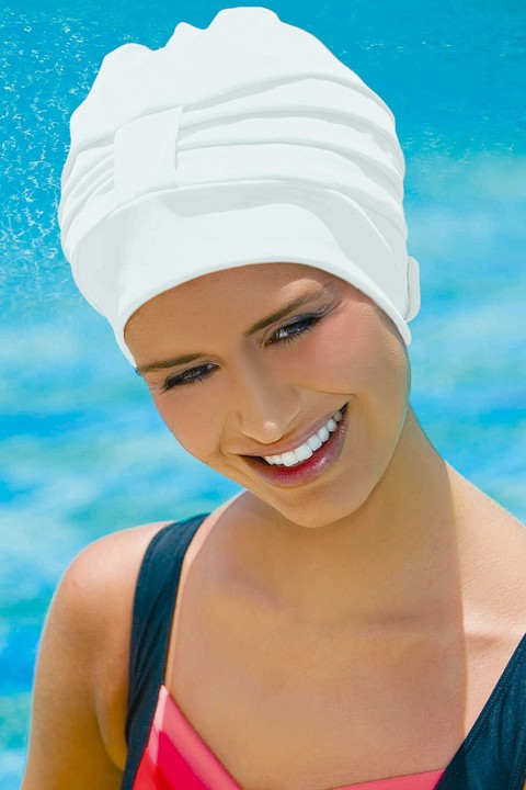 Adjustable Swim Hat ~ White (3473)