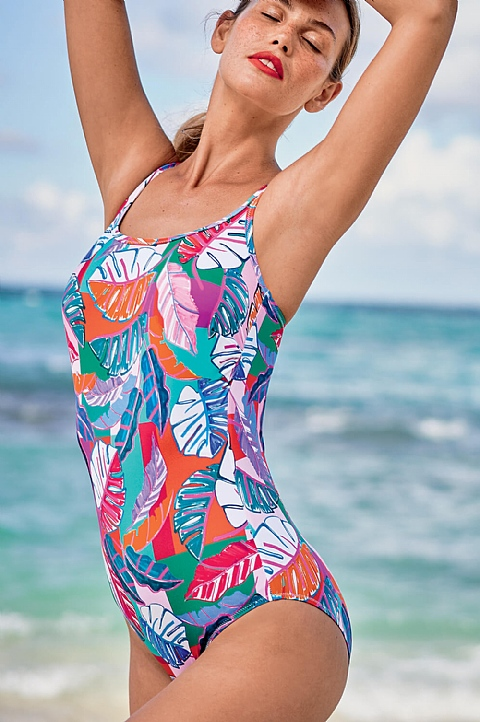 Bright Floral Swimsuit (6254)