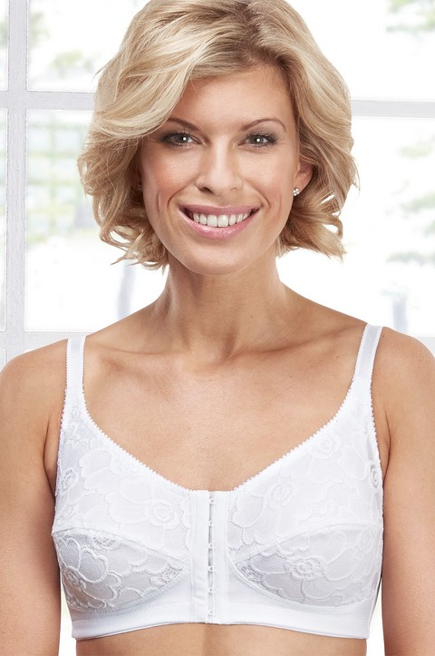 Soft Lace Front Fastening Bra (7053)