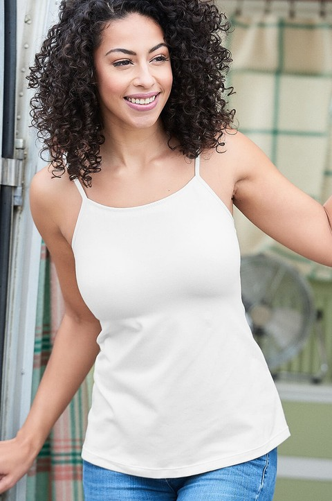 Fitted Top with Built-in Bra (V007)